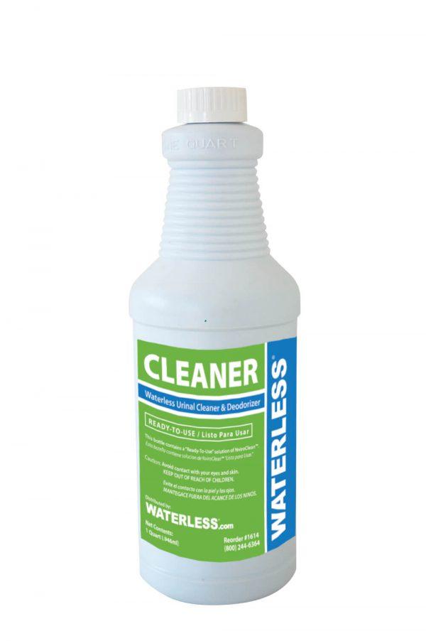 Waterless, urinal cleaner